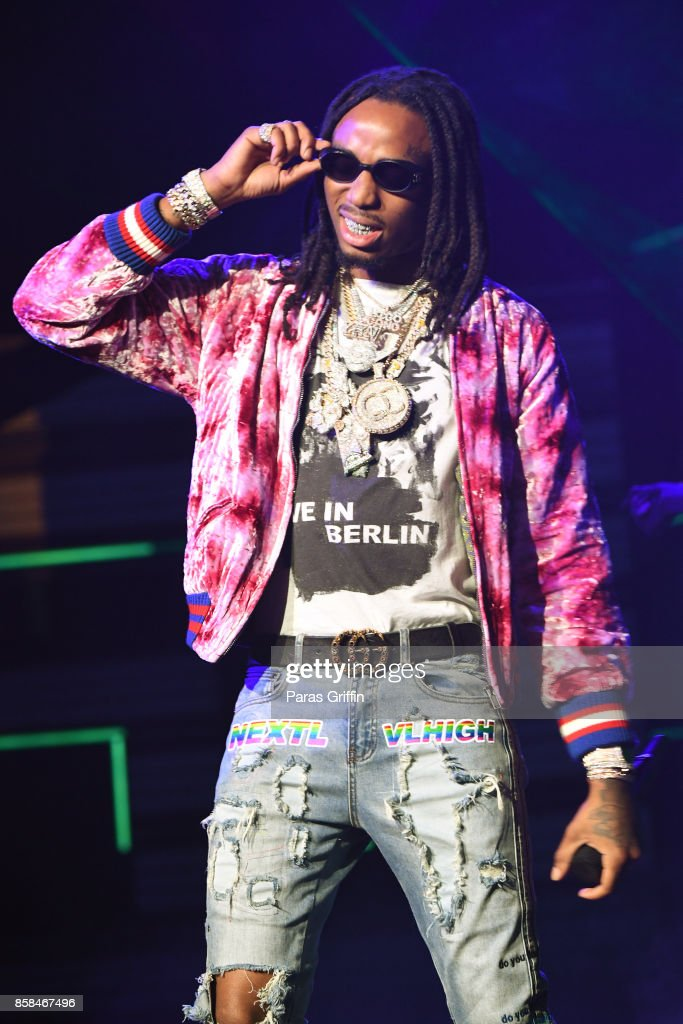Rapper Quavo of Migos performs onstage during the BET Hip Hop Awards 2017 at The Fillmore Miami Beach at the Jackie Gleason Theater on October 6, 2017 in Miami Beach, Florida.
