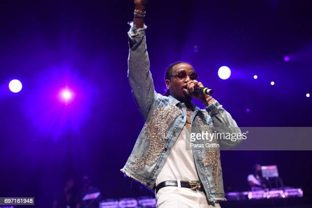 Rapper Quavo of the group Migos performs onstage at Hot 1079 Birthday Bash ATL Pop Up Edition at Philips Arena on June 17 2017 in Atlanta Georgia