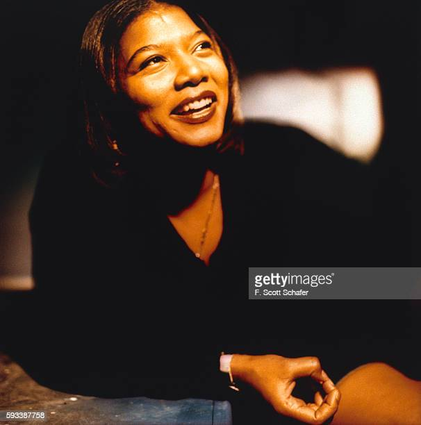 Rapper Queen Latifah is photographed for Entertainment Weekly Magazine in 1993 in Los Angeles California