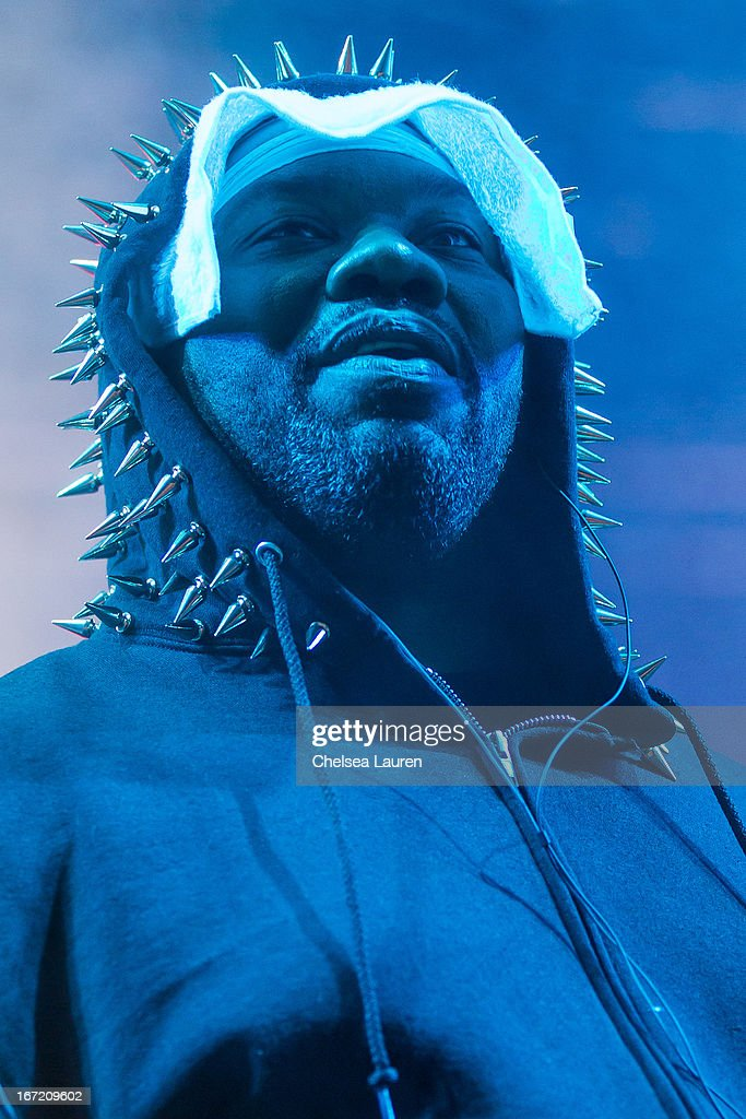 Rapper <a gi-track='captionPersonalityLinkClicked' href=/galleries/search?phrase=Raekwon&family=editorial&specificpeople=798556 ng-click='$event.stopPropagation()'>Raekwon</a> of The Wu-Tang Clan performs during the Coachella Valley Music & Arts Festival at The Empire Polo Club on April 21, 2013 in Indio, California.