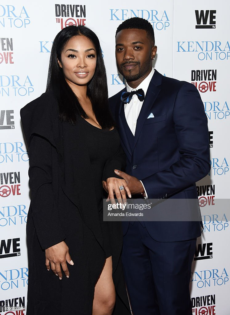 Rapper Ray J and his finace Princess Love arrive at the WE tv celebration of the premiere of 'Kendra On Top' and 'Driven To Love' at Estrella Sunset...