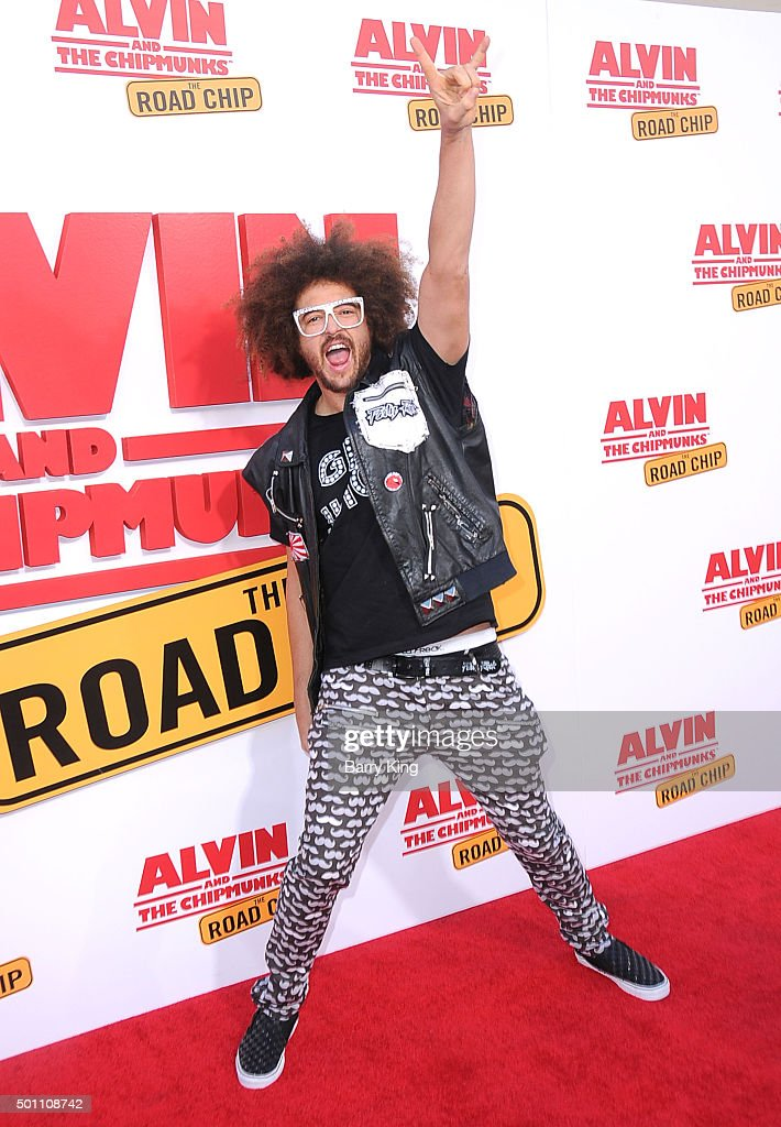 Rapper Redfoo of LMFAO attends the Premiere of 20th Century Fox's 'Alvin And The Chipmunks' at Zanuck Theater at 20th Century Fox Lot on December 12...