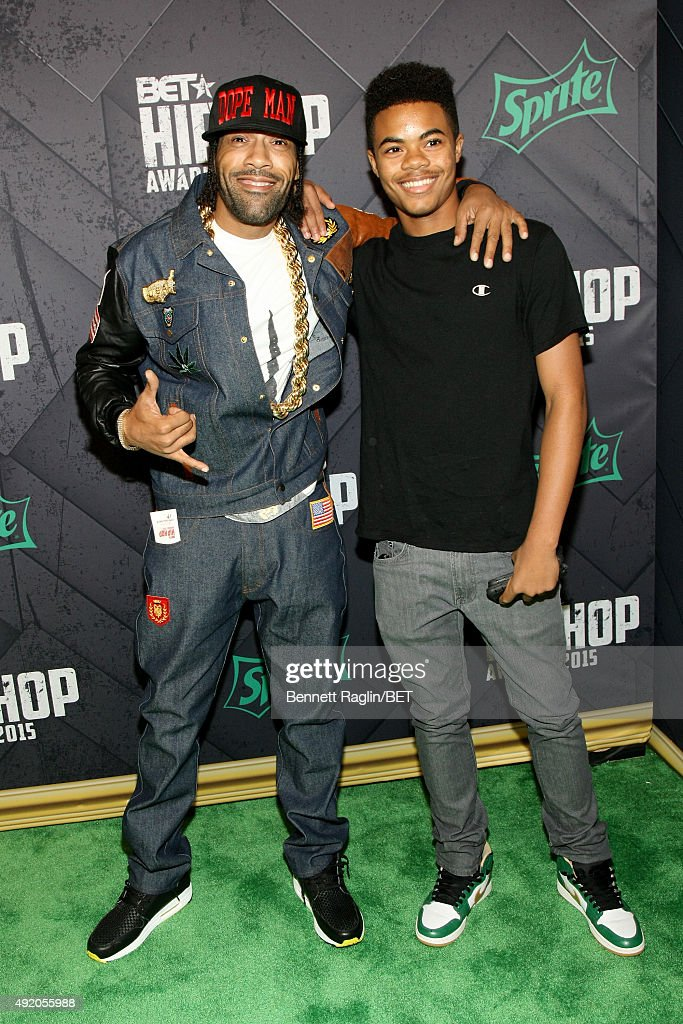 Rapper Redman and his son attend the BET Hip Hop Awards 2015 presented by Sprite at Atlanta Civic Center on October 9 2015 in Atlanta Georgia
