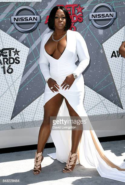 Rapper Remy Ma attends the 2016 BET Awards at Microsoft Theater on June 26 2016 in Los Angeles California
