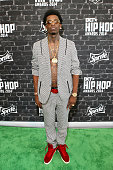 Rapper Rich Homie Quan attends the BET Hip Hop Awards 2014 presented by Sprite at Boisfeuillet Jones Atlanta Civic Center on September 20 2014 in...