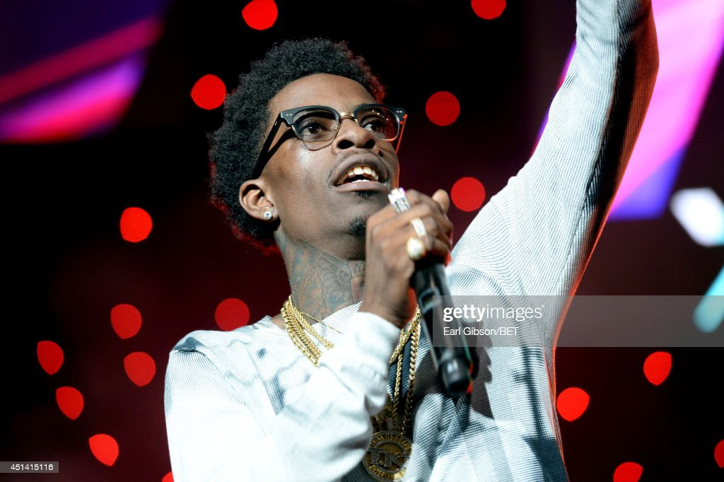 Rapper <a gi-track='captionPersonalityLinkClicked' href=/galleries/search?phrase=Rich+Homie+Quan&family=editorial&specificpeople=10886579 ng-click='$event.stopPropagation()'>Rich Homie Quan</a> performs onstage at the OutKast, A$AP Rocky, Rick Ross, K. Michelle, August Alsina & Ty Dolla $ign Presented By Sprite during the 2014 BET Experience At L.A. LIVE on June 28, 2014 in Los Angeles, California.