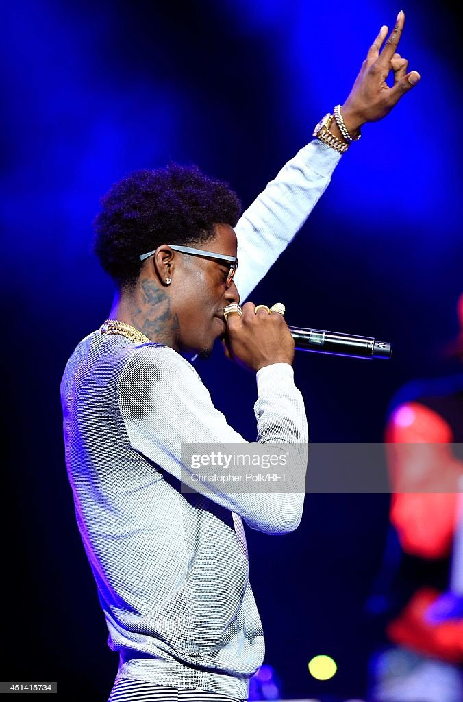 Rapper Rich Homie Quan performs onstage at the OutKast, A$AP Rocky, Rick Ross, K. Michelle, August Alsina & Ty Dolla $ign Presented By Sprite during the 2014 BET Experience At L.A. LIVE on June 28, 2014 in Los Angeles, California.