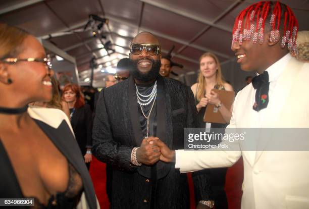 Rapper Rick Ross and Lil Yachty attend The 59th GRAMMY Awards at STAPLES Center on February 12 2017 in Los Angeles California