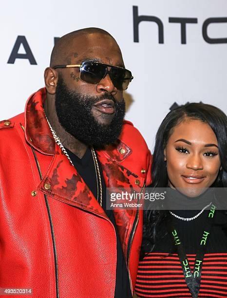 Rapper Rick Ross and Lira Galore arrive to TIDAL X 1020 at Barclays Center on October 20 2015 in the Brooklyn borough of New York City