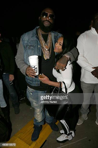 Rapper Rick Ross and Lira Galore attend Power 1051's Powerhouse 2015 at the Barclays Center on October 22 2015 in Brooklyn NY