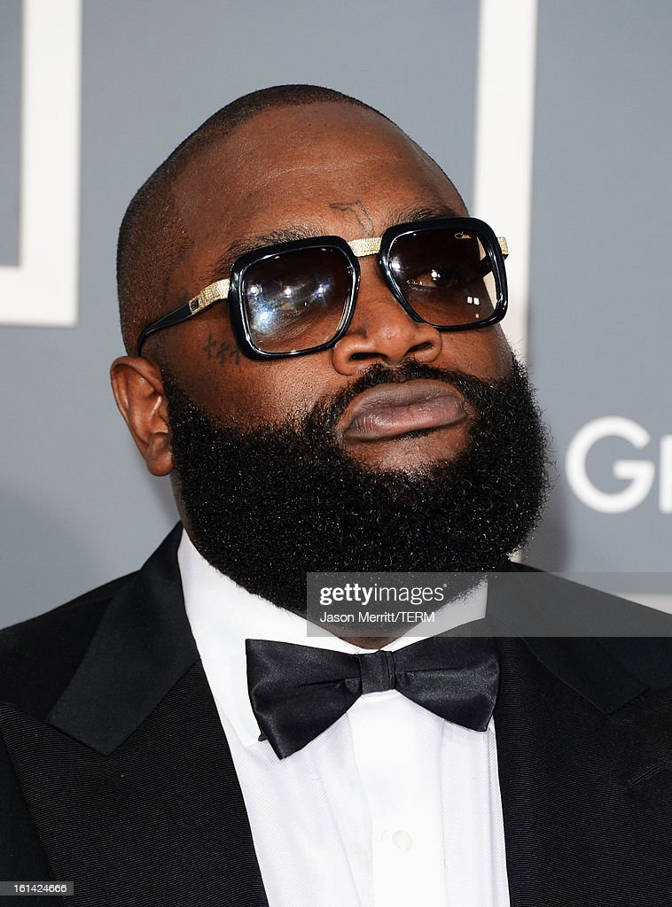 Rapper Rick Ross arrives at the 55th Annual GRAMMY Awards at Staples Center on February 10, 2013 in Los Angeles, California.