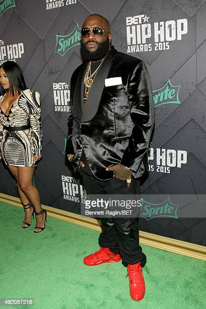 Rapper Rick Ross attends the BET Hip Hop Awards 2015 presented by Sprite at Atlanta Civic Center on October 9 2015 in Atlanta Georgia