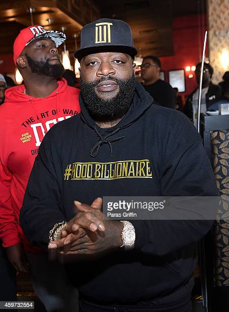 Rapper Rick Ross attends the Rick Ross 'Hood Billionaire' Private Brunch And Listening Session at Sweet Auburn Seafood and Lounge on November 22 2014...