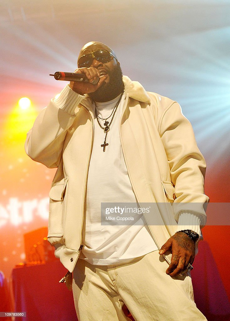 Rapper Rick Ross performs at the Best Buy Theater on March 4, 2011 in New York City.