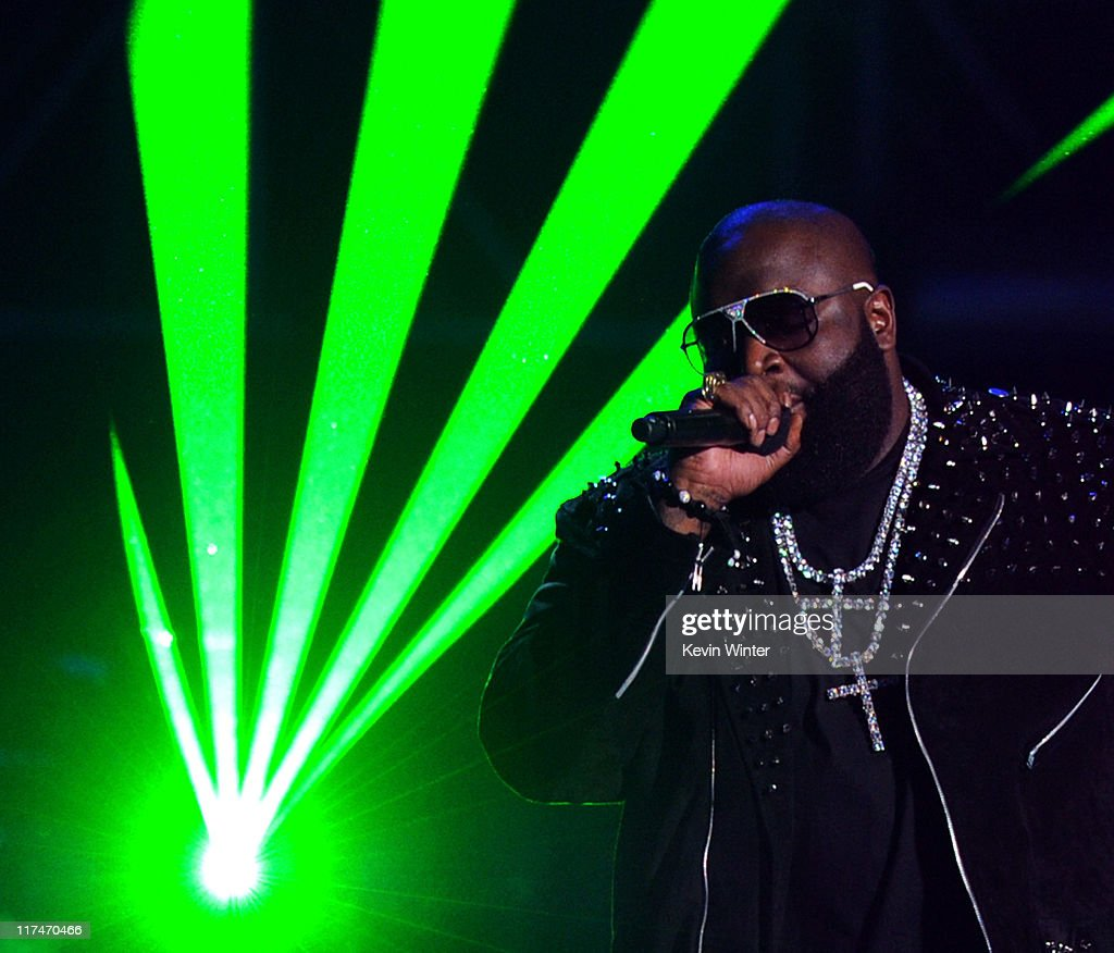 Rapper Rick Ross performs onstage during the BET Awards '11 held at the Shrine Auditorium on June 26, 2011 in Los Angeles, California.