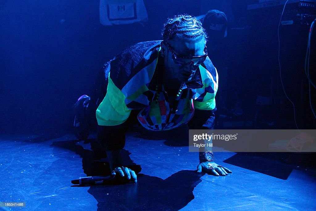 Rapper Riff Raff performs at Irving Plaza on October 18, 2013 in New York City.