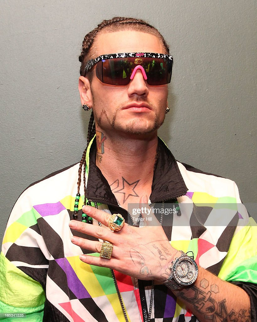 Rapper Riff Raff poses for a portrait before his show at Irving Plaza on October 18, 2013 in New York City.