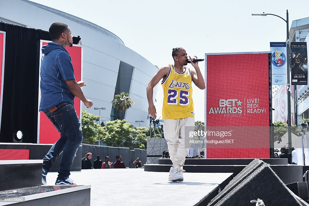Rapper RJ performs at the 2016 BET Awards at the Microsoft Theater on June 26, 2016 in Los Angeles, California.