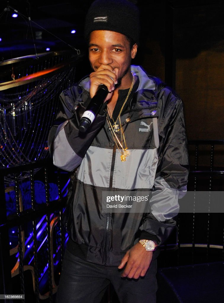 Rapper Rockie Fresh performs at the Puma party at The Bank Nightclub at the Bellagio on February 19, 2013 in Las Vegas, Nevada.