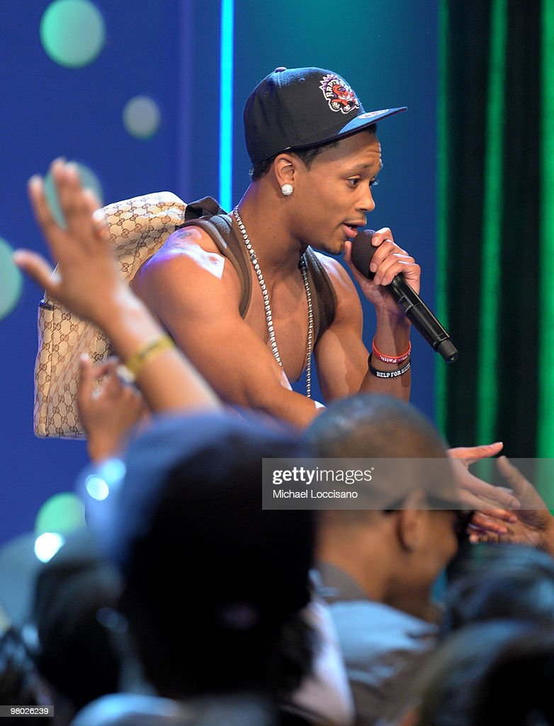 Rapper Romeo of the College Boyys performs on BET's '106 & Park' at BET Studios on March 24, 2010 in New York City.