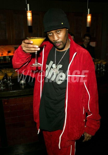 Rapper RZA gestures as he...