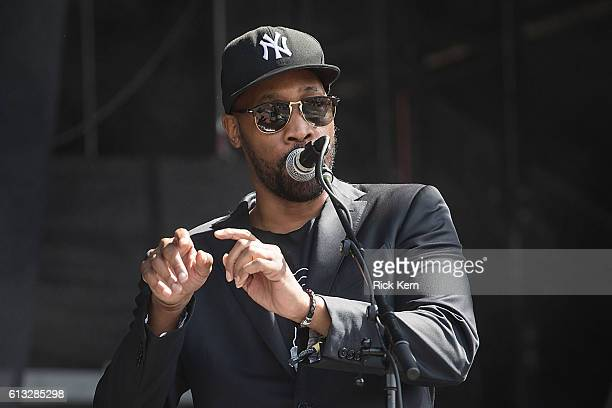Rapper RZA of Banks Steelz performs onstage during weekend two day one of Austin City Limits Music Festival at Zilker Park on October 7 2016 in...