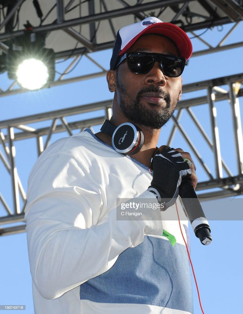 Rapper RZA of the Wu-Tang Clan performs during the 2012 Boost Mobile & Guerilla Union Rock the Bells Music Festival powered by Blackberry at Shoreline Amphitheatre on August 25, 2012 in Mountain View, California.