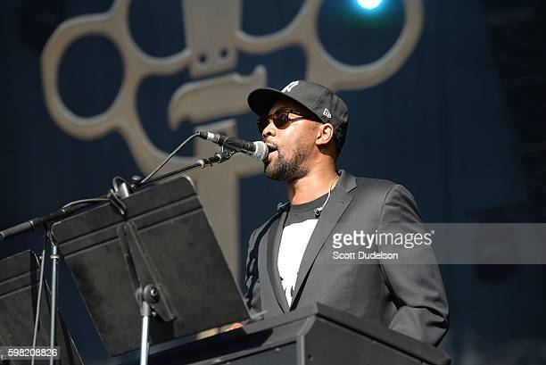 Rapper RZA of Wu Tang Clan performs onstage with his side project Banks Steelz during the FYF Festival at Los Angeles Sports Arena on August 28 2016...
