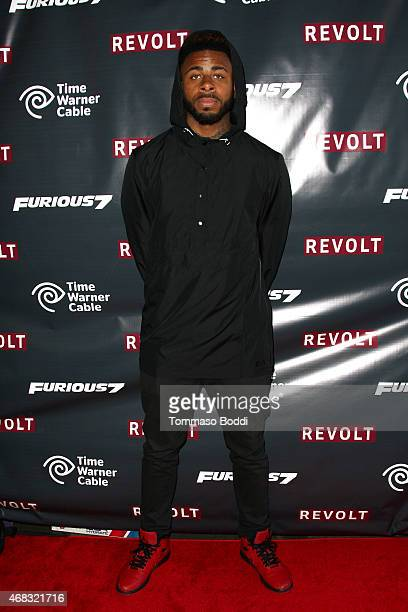 Rapper Sage The Gemini attends the Revolt Live hosts exclusive 'Furious 7' takeover with musical performances from the official movie soundtrack held...