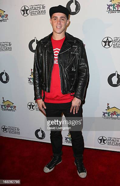Rapper Sammy Adams attends the 7th Annual 'Stars Strikes' Celebrity Bowling and Poker Tournament benefiting A Place Called Home at PINZ Bowling...