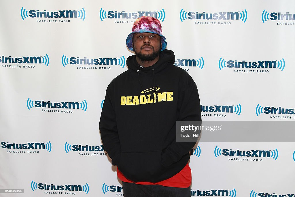 Rapper ScHoolboy Q of Black Hippy visits the SiriusXM Studios on March 26, 2013 in New York City.