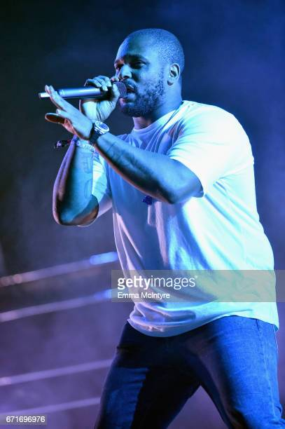 Rapper ScHoolboy Q performs at the Outdoor Theatre during day 2 of the 2017 Coachella Valley Music Arts Festival at the Empire Polo Club on April 22...