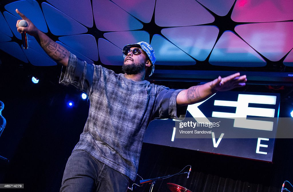 Rapper Schoolboy Q Performs During SKEE Live At The Conga Room At L.A. Live  On January