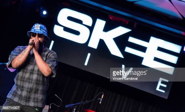 Rapper Schoolboy Q performs during SKEE Live at The Conga Room at LA Live on January 28 2014 in Los Angeles California
