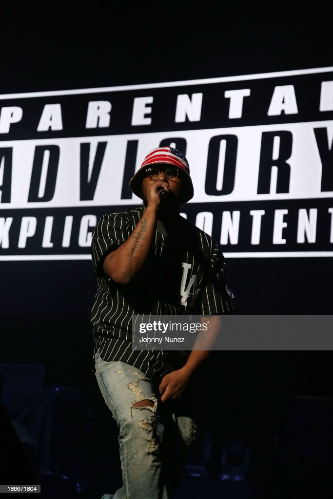 Rapper <a gi-track='captionPersonalityLinkClicked' href=/galleries/search?phrase=Schoolboy+Q&family=editorial&specificpeople=9028279 ng-click='$event.stopPropagation()'>Schoolboy Q</a> performs onstage at Power 105.1's Powerhouse 2013, presented by Play GIG-IT, at Barclays Center on November 2, 2013 in New York City.