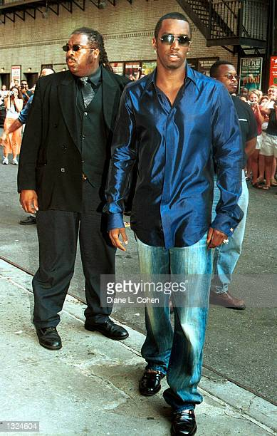 Rapper Sean Combs arrives at the Ed Sullivan Theater to appear as a guest on the Late Show with David Letterman July 10 2001 in New York City