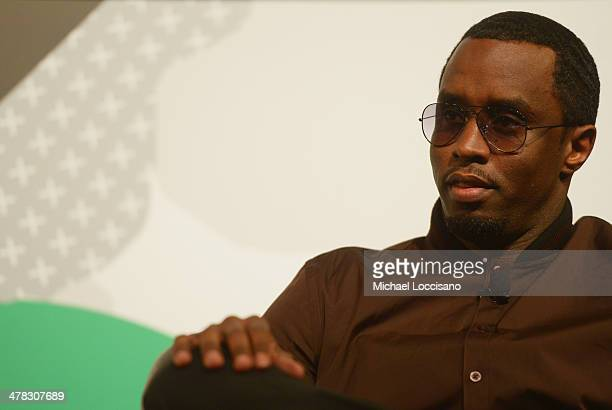 Rapper Sean 'Diddy' Combs participates in the SXSW Interview Sean 'Diddy' Combs during the 2014 SXSW Music Film Interactive at Austin Convention...
