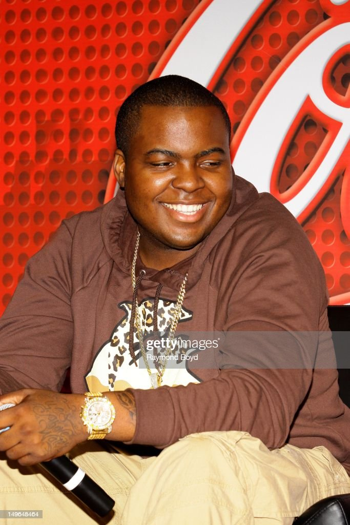 Rapper Sean Kingston is interviewed in the KISSFM 'CocaCola Lounge' in Chicago Illinois on JULY 23 2012