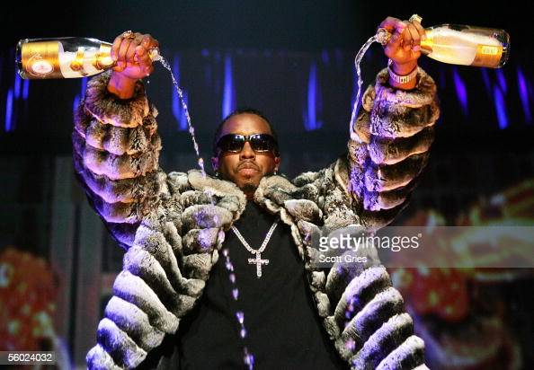 Rapper Sean 'P Diddy' Combs performs onstage during Power 1051's 'Powerhouse 2005 Operation Takeover' at the Continental Airlines Arena on October 27...