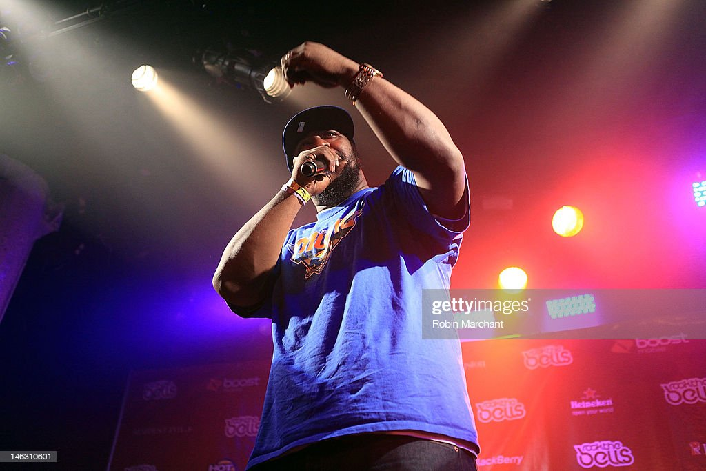 Rapper <a gi-track='captionPersonalityLinkClicked' href=/galleries/search?phrase=Sean+Price+-+Rapper&family=editorial&specificpeople=14972656 ng-click='$event.stopPropagation()'>Sean Price</a> performs at the 2012 Rock the Bells Festival press conference and fan appreciation party at Santos Party House on June 13, 2012 in New York City.