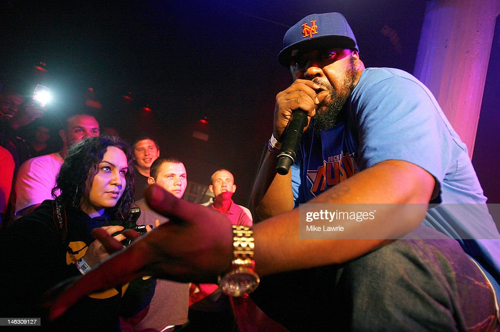 Rapper <a gi-track='captionPersonalityLinkClicked' href=/galleries/search?phrase=Sean+Price+-+Rapper&family=editorial&specificpeople=14972656 ng-click='$event.stopPropagation()'>Sean Price</a> performs during the 2012 Rock the Bells Festival press conference and Fan Appreciation Party on at Santos Party House on June 13, 2012 in New York City.