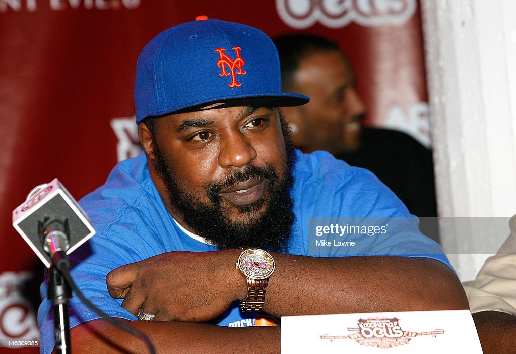 Rapper <a gi-track='captionPersonalityLinkClicked' href=/galleries/search?phrase=Sean+Price+-+Rapper&family=editorial&specificpeople=14972656 ng-click='$event.stopPropagation()'>Sean Price</a> speaks during the 2012 Rock the Bells Festival press conference and Fan Appreciation Party on at Santos Party House on June 13, 2012 in New York City.