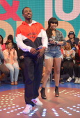 Rapper Shorty da Prince and Actress Paigion cohost BET's 106th Park show at 106 Park Studio on March 20 2013 in New York City
