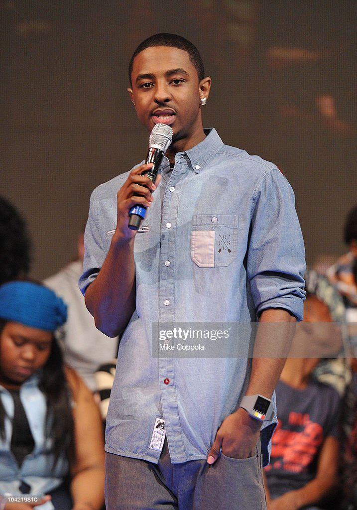 Rapper Shorty da Prince co-host BET's 106th & Park show at 106 & Park Studio on March 20, 2013 in New York City.