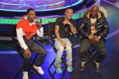 Rapper Shorty da Prince rapper Bow Wow and radio personality Charlemagne cohost BET's 106th Park show at 106 Park Studio on March 20 2013 in New York...