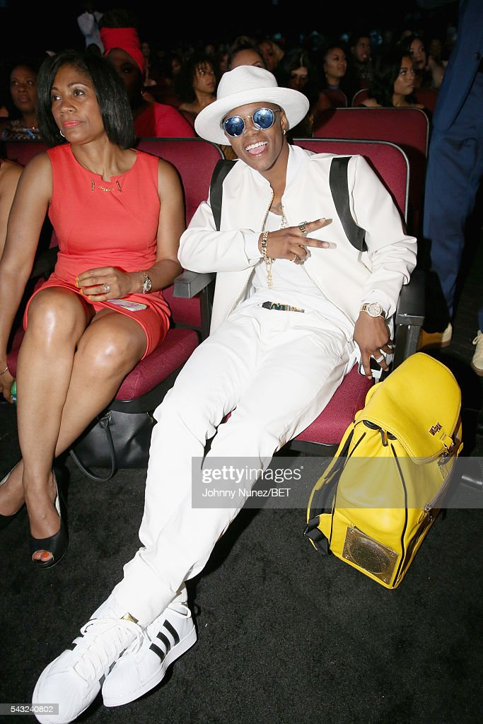 Rapper Silento (R) attends the 2016 BET Awards at the Microsoft Theater on June 26, 2016 in Los Angeles, California.