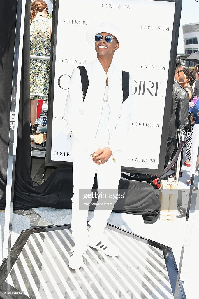 Rapper Silento attends the Cover Girl glam stage during the 2016 BET Awards at the Microsoft Theater on June 26, 2016 in Los Angeles, California.