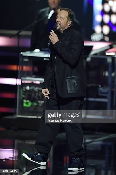 Rapper Smudo of the band Die Fantastischen Vier performs live on stage during the Bambi Awards 2014 show on November 13 2014 in Berlin Germany