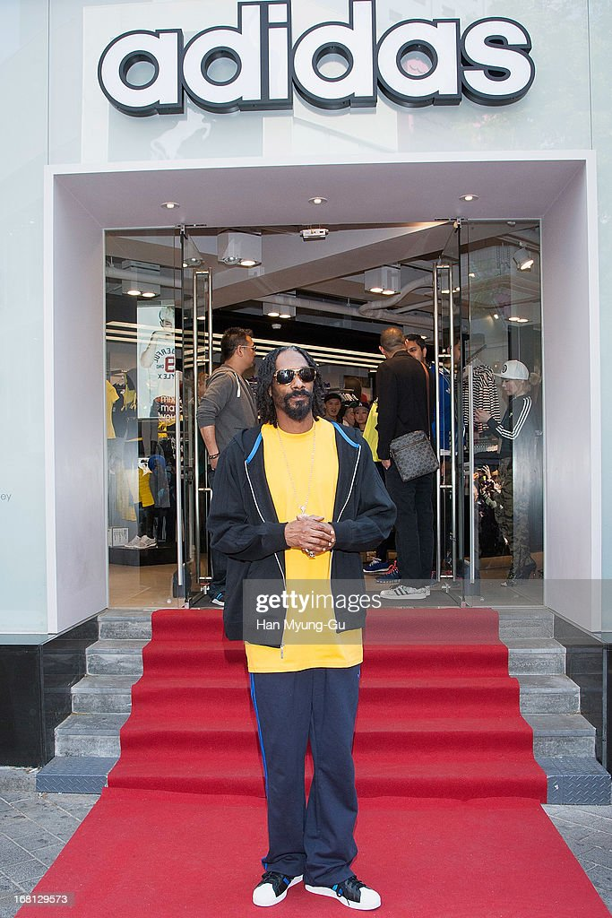 Rapper Snoop Dogg aka Snoop Lion visits a promotional event for 'Adidas' Flagship Store on May 5, 2013 in Seoul, South Korea.