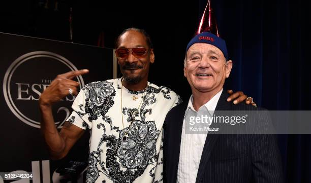 Rapper Snoop Dogg and actor Bill Murray attend The 2017 ESPYS at Microsoft Theater on July 12 2017 in Los Angeles California